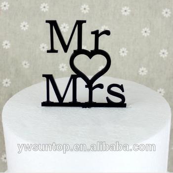 baratos 2014 novo designer mr mrs acrílico cake topper acessório do casamento por atacado