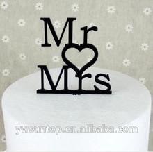 Cheap 2014 NEW Designer Mr Mrs Acrylic Cake Topper wedding Accessory Wholesale