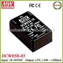 Meanwell DCW05B-05 dc 36v to 5v -5v dc converter