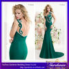 New Arrival Fashion Green Mermaid One Shoulder Backless Floor Length Long Satin vestidos de fiesta Prom Dresses 2014 (AB0159)