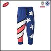 America flag multi pocket ladies fashion three quarter loose dance pants