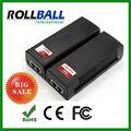 Alto desempenho 10/100/1000 mbps gigabit poe injector