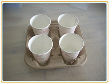 OEM recyclecoffee cup holder tray for packing