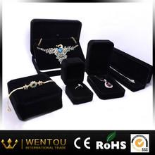 Wholesale Custom high quality velvet jewelry box