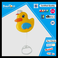 Plastic music box toy pull string duck toy