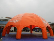 Orange brand spider inflatable tents 8 legs, 10m diameter in stock