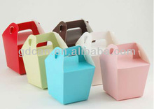 Sweet paper box snack take away box packaging with handles