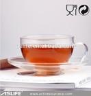 )Wholesale High Borosilicate Glass Tea Sets!Tea Pot&Cup&Saucer&Warmer!4 Pieces Glass Tea Accessories Sets Wholesale