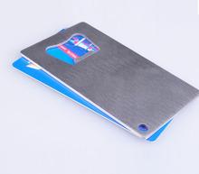 flat custom logo credit card wine bottle opener set