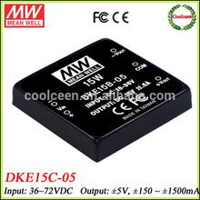 Meanwell DKE15C-05 36v dc to 5v -5v dc converter