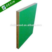 Single Side or Double Side Green Melamine MDF