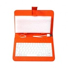 Universal Portable micro usb keyboard 7 inch leather stand case cover for 7' tablet