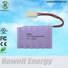 7.2v 800 mAh batterie al nichel cadmio prezzo