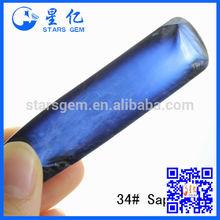 snythetic sapphire blue rough corundum