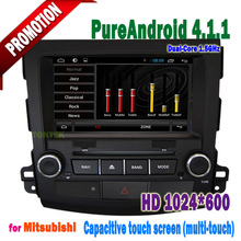 Prue Android BT AUX 3G/WIFI touch screen gps with car dvd for mitsubishi outlander