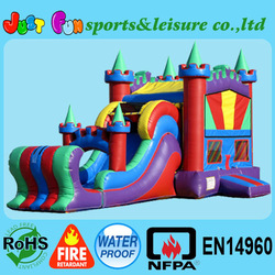 Custom made module inflatable combo,wet or dry inflatable bouncer