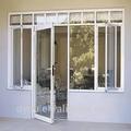 correderas de aluminio de la mitad de la puerta de vidrio