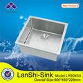 lr6045a retangular 304 açoinoxidável canto redondo pia da cozinha portátil