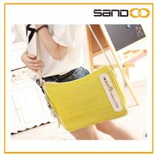 2014 popular messenger bag lady bag wholesale fashion straw bag