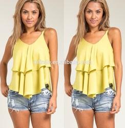 women blouses / ladies chiffon tops / fashion women blouses clothing manufacture