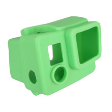 2014 High qualty Sports camera Green silicone case for Gopro Hero 3