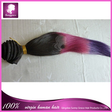 Cheap remy hair ombre Malaysian hair staight hair extension 8A quality Brazilian/Peruvian/Indian/Eurasian