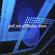 China led chandelier fiber optic lighting big size chandelier