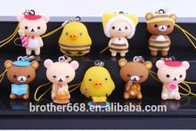 cute headphone dust plug / PVC cartoon dust plug / promotion dustplug