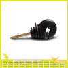 Black plastic ring insulator for electric fence wire,polywire insulator