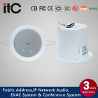 """ITC T-104GK Home Theater Music System 6W 3W 4"""" Bathroom Ceiling Speaker with Metal Cover"""