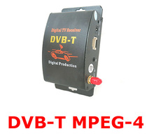 2 Video output mobile digital tv tuner receiver boxmpeg-4 car dvb-t with active antenna