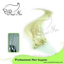 royal hair Wholesale Price 100% Human Hair Ring-X/Micro Ring Hair Extensions