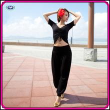 New design yoga wear for women v neck ballroom exercise red yoga wear