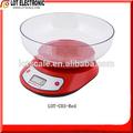 Balança de cozinha digital lot-c03 vermelho