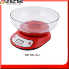 Digital Kitchen Scale LOT-C03 Red