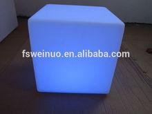 led light cube chair WN-JS03 /plastic furniture LED cube table