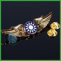 2014 pilot wings metal badge lapel pin/promotional item wings lapel pins