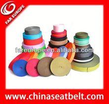 High quality green/red jacquard elastic seatbelt webbing for car