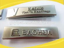 high quality custom metal logo for handbags, luggage tag,metal label