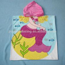 Printing hooded children bath towel
