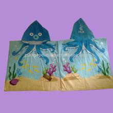 Printed Hooded kids beach towel