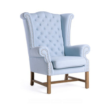French Style Fabric Upholstery Wooden Frame Bedroom Leisure Chair