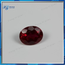 7# natural corundum ruby ,oval shapes ruby color corundum gemstone China factory price in stock