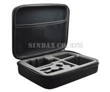 Middle Gopro Case 3 Black Anti-shock Portable Bag for Gopro Hero3+ hero3 Hero2 Hero Cameras Storage Case