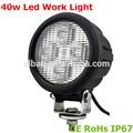 Hot!!! Impermeável conduziu a lâmpada 40w cree luz de trabalho led faróis para tratores
