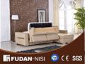 sala de estar design canto sofá de couro fm105