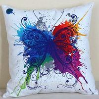 Customize 3d digital printing super soft velboa hold pillow