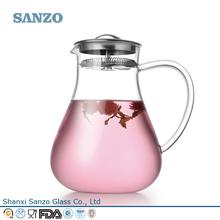 Sanzo Custom Glassware Manufacturer double wall pitcher
