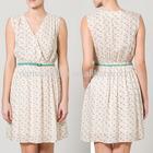 Ladies 2014 Sleeveless Pencil Frock V Neck Casual Dress