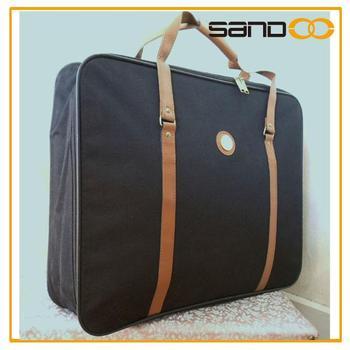 Lightweight black garment bag, travel suit cover bag, men suit bag